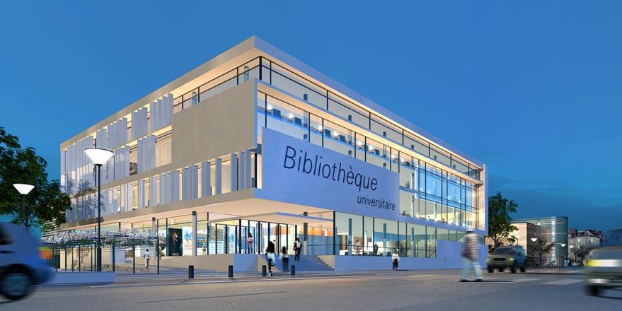 Biblioth que universitaire au havre projet jacques for 3d architecture le havre
